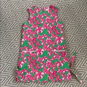 Lilly Pulitzer sleeveless pink and green dress EUC